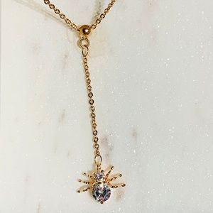 Jewelry - Cute Spider Charm Pendant Drop Necklace